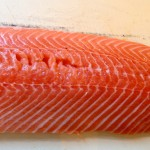 Whole salmon fillet