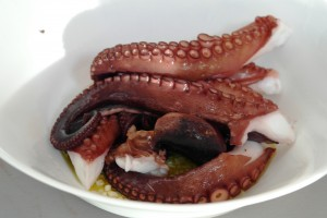 Octopus cooked