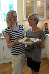 Claudia, Katja and Thai Bolognese