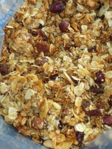 roasted granola with dry fruit and nuts