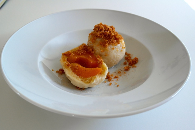 Marillenknödel – bohemian apricot dumplings with butter-roasted breadcrumbs