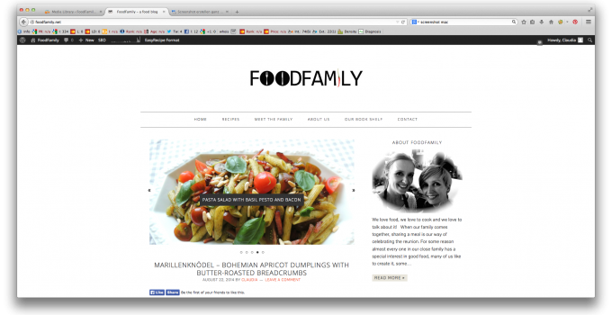 Welcome to the new version of FoodFamily!