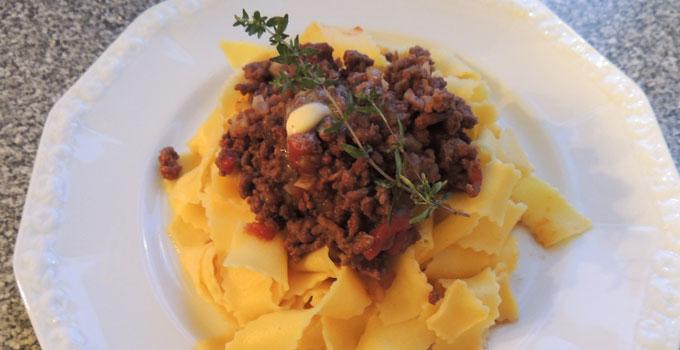 Papardelle Lamb Bolognese