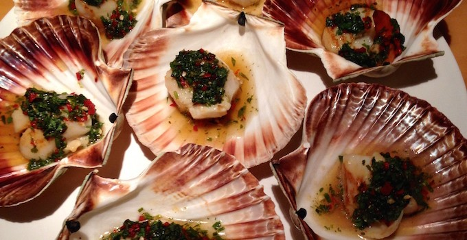 Scallops with Chili Lime Dressing