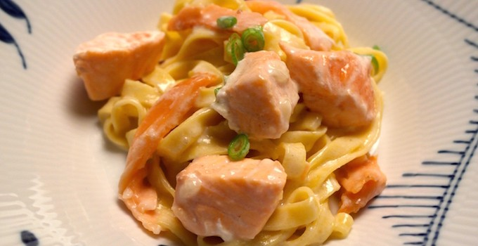 Salmon Pasta with two kinds of Salmon