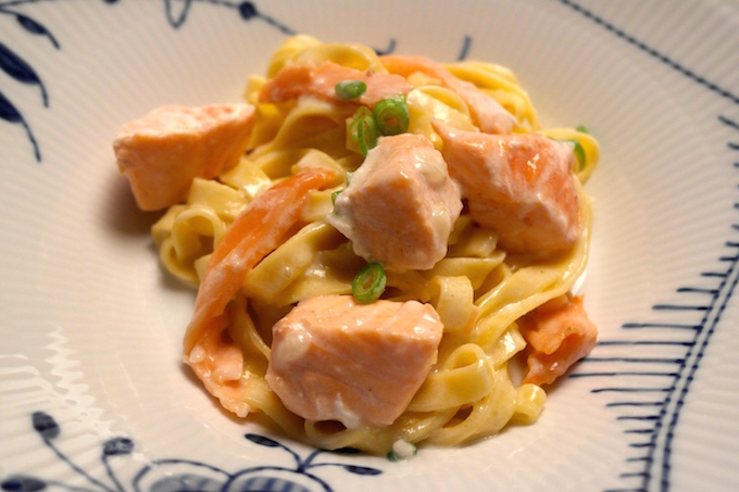 Salmon Pasta With Two Kinds Of Salmon Foodfamily