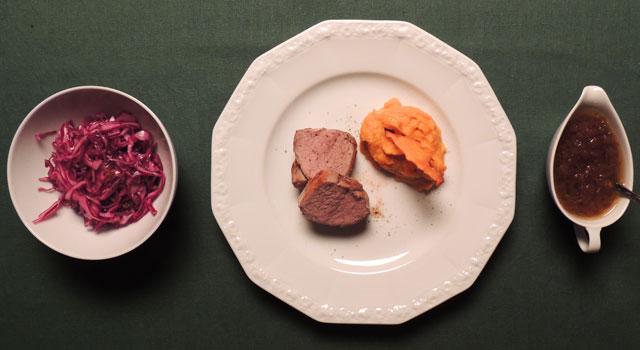 Filet of pork with Sweet potatoe puree 680x350 px