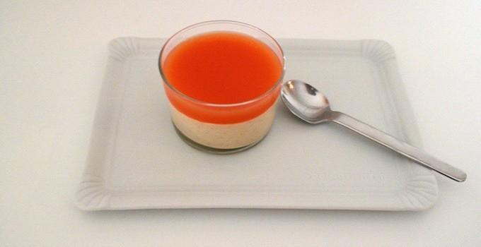 Orange Ricotta Cream with Campari Jelly