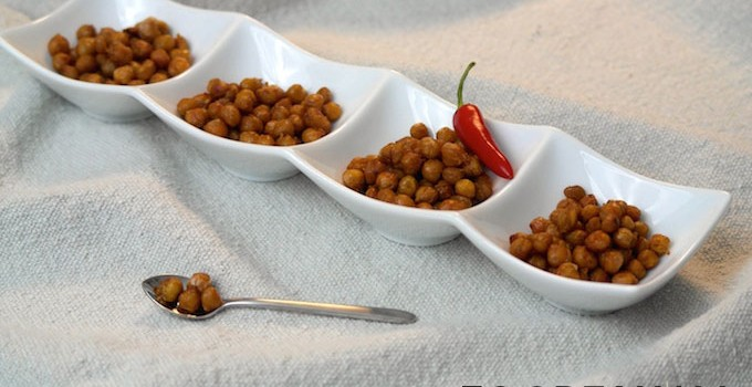 Oven-roasted chickpeas – a healthy snack