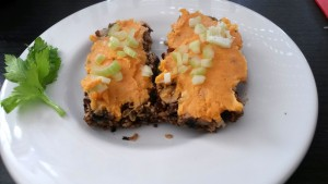 Flour-free bread with sweet potato topping