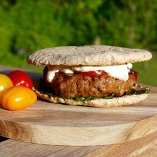oriental lamb burger